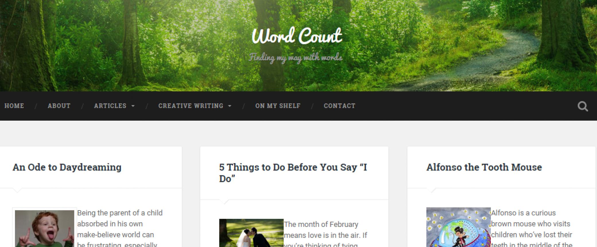 Word Count Wordpress Portfolio Website