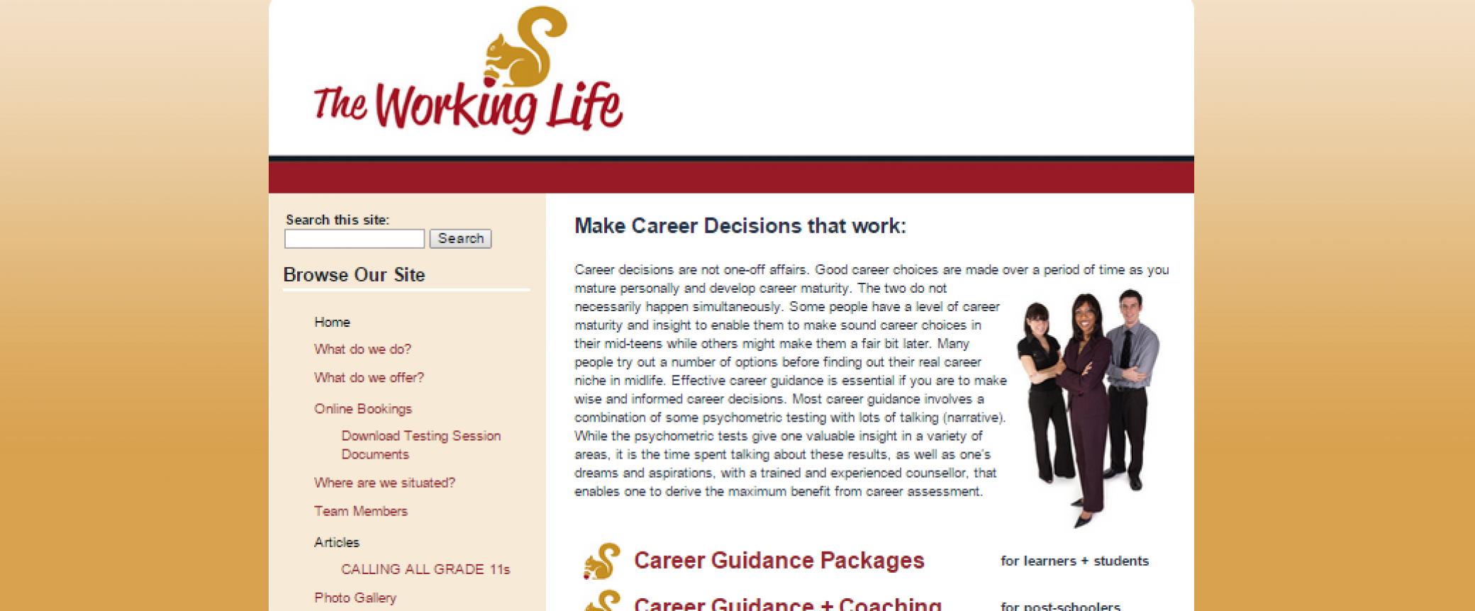 Working Life Career Consultancy with Annette Miller Homepage